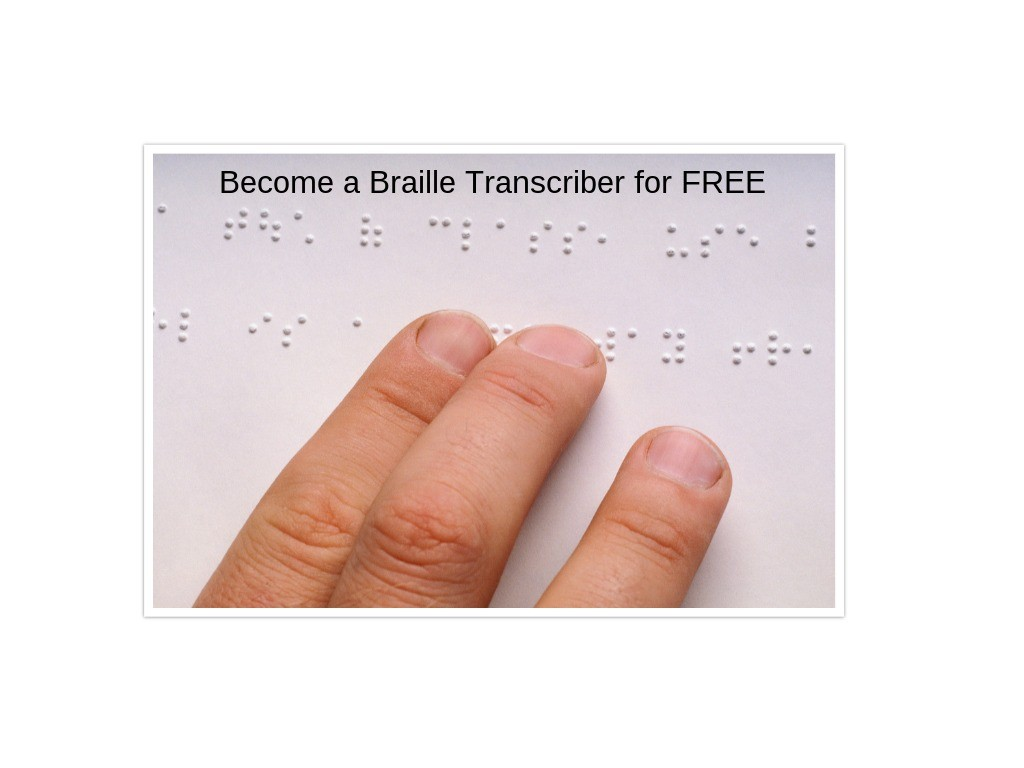 free braille transcription course